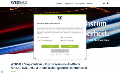 Shopsystem für B2C und B2B Shops Shopsoftware WEBSALE AG